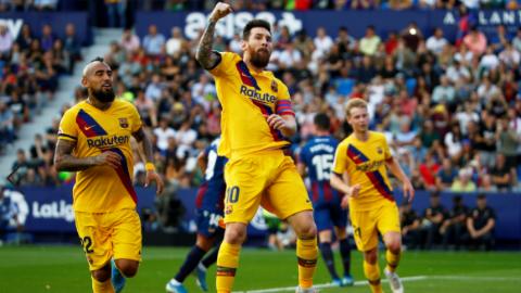 梅西率先进球难救主 巴萨西甲遭莱万特逆转