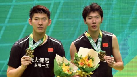 澳门羽毛球公开赛中国队夺得男双女双冠军