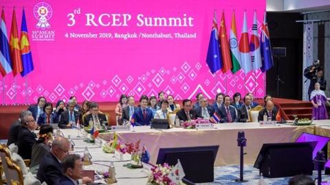 东盟峰会闭幕 RCEP15国领导人明年签协议