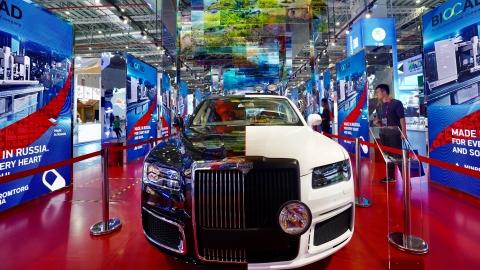 进博会国家展巡礼 | 俄罗斯:普京座驾民用版闪亮登场