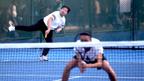 上海市大学生网球联赛昨天落幕