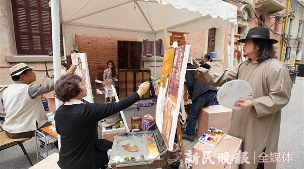 艺游上海⑨丨黄包车夫、旗袍女子、香烟小贩,张园的前世今生全都入了画