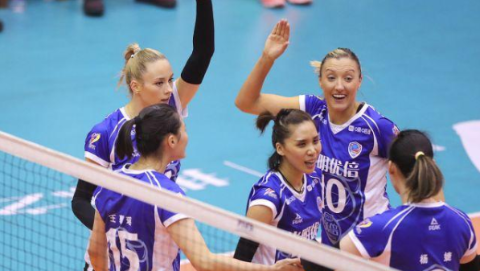 上海女排喜获四连胜 提前两轮晋级八强