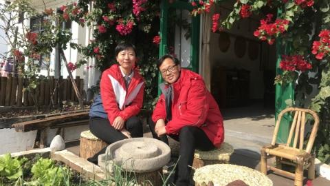 我·青吴嘉丨沈凌峰夫妻在村里开一家车友俱乐部:爱白墙黛瓦 享田园风光