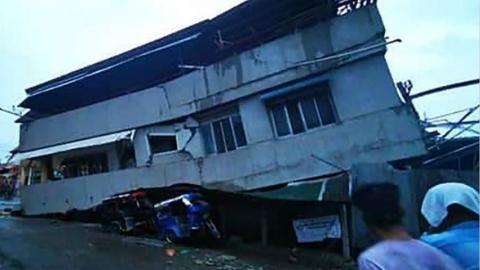 菲律宾南部遭强震 4人丧生数十人伤