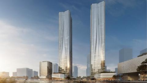 """张江""""双子塔""""等53个重点项目今天集中开工、入驻和签约:未来的张江将给人们带来什么?"""