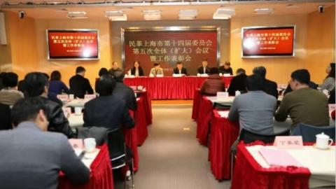 民革上海市委会十四届五次全体(扩大)会议召开