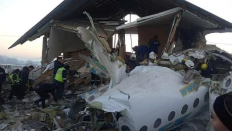 哈萨克斯坦失事客机遇难人数升至15人 中国乘客幸无恙