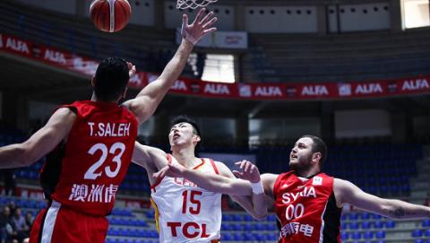 中国男篮轻取叙利亚 7胜5负结束世预赛