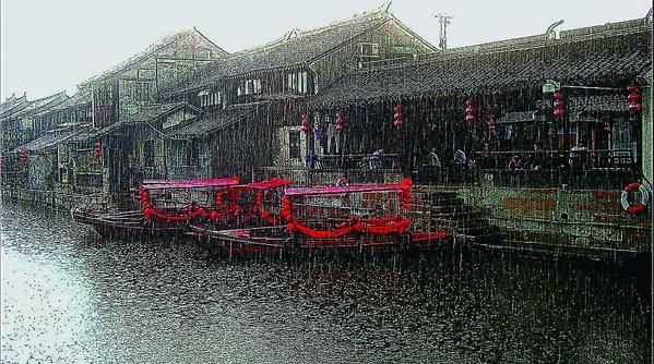 七夕会 摄影 | 古镇雨景