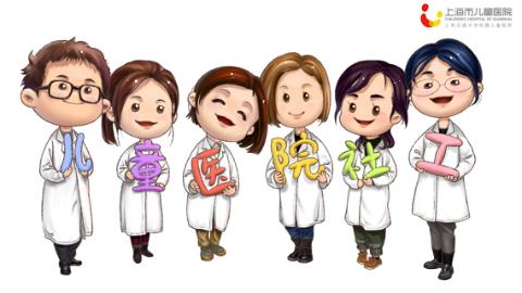 可爱又形象!上海市儿童医院推出卡通社工 拉近与患儿距离