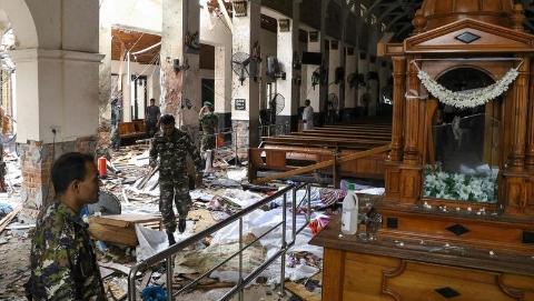 十年平静被打破 斯里兰卡一天8起爆炸