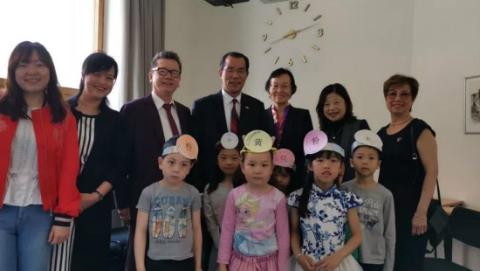 中国驻瑞典大使桂从友考察瑞典瑞潮中文学校