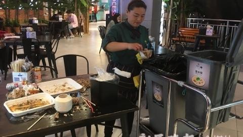 """商场垃圾分类如何推进?新江湾城的悠方购物公园倒逼商户有""""妙招"""""""
