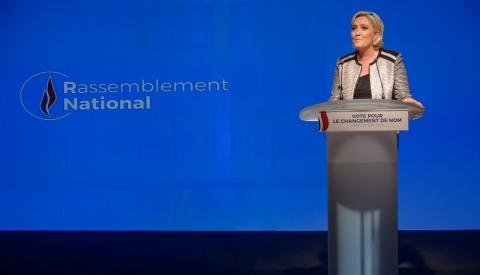 """欧洲议会选举民调 极右政党""""国民联盟""""领跑法国"""