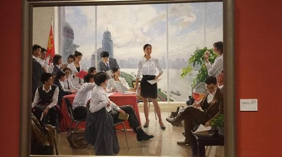 十二艺节丨《支部建在高楼上》吸引观众驻足:青春与党徽一起发光