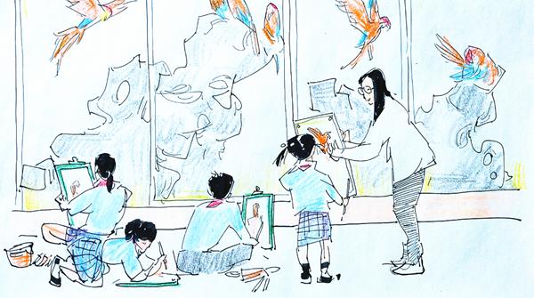 十二艺十二景⑥|美术馆里的美术课