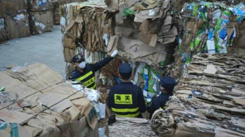 """让""""洋垃圾""""从哪来回哪去!上海海关一个月清退固废7056吨"""