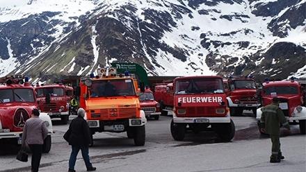 奥地利国际消防队节展出240辆老式消防车