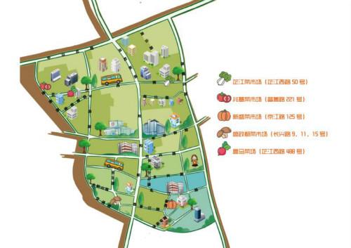 """芷江西路街道绘制""""菜场地图"""" 为居民打造15分钟便捷式"""