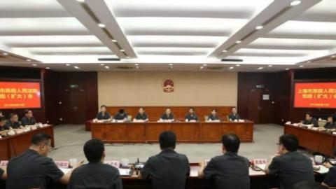 市高院召开党组(扩大)会 专题研究扫黑除恶专项斗争工作《上海法院整改方案》
