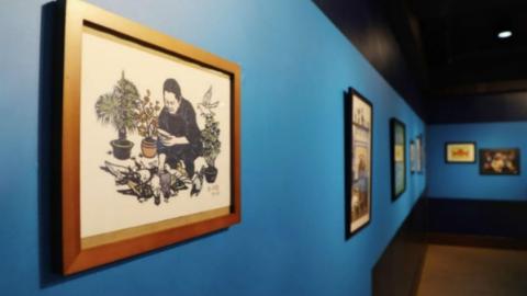 """""""我要学非遗""""年度展览开幕 300多件师生作品联袂展出"""