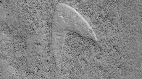 """科幻成真?美国宇航局探测器在火星上发现""""星际迷航""""符号"""
