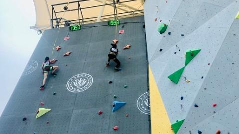 """谁是长江以南的""""飞檐走壁""""高手?2019年全国大学生攀岩南区赛在上海健康医学院开赛"""