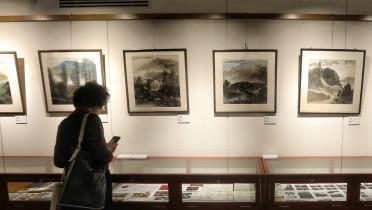 山水画家胡振郎艺术特展厅今日揭牌
