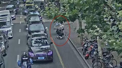 男子骑车撞人后逃逸 次日被抓落网