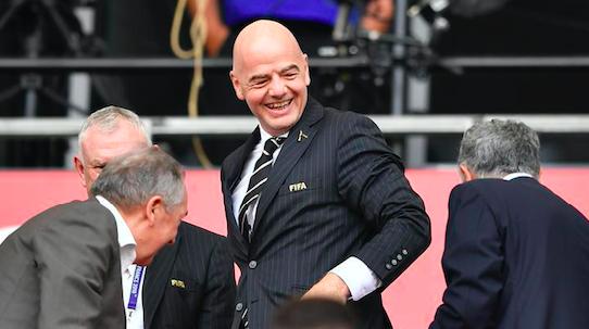 女足受追捧 国际足联主席因凡蒂诺提出未来要扩军