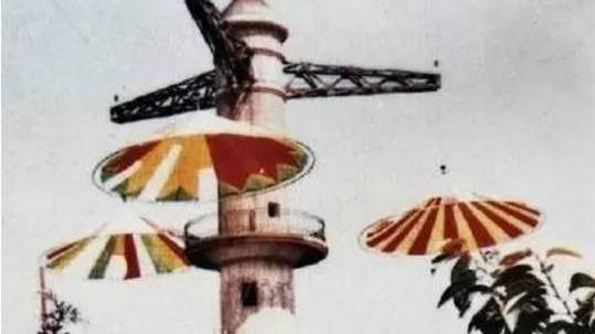 高高的跳伞塔