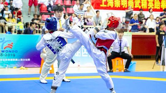 崇明迎来首个全国中学生跆拳道比赛,竞技体育带动学校体育项目发展
