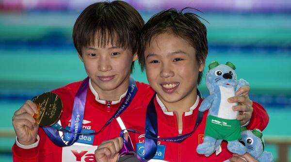 上海小囡陈芋汐摘金,这是中国跳水队6年后再获女子十米台世锦赛金牌
