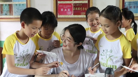 坚持八年,华东师大学子将梦想传递到老区青山里
