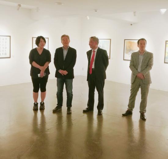 中国杰出艺术家书画展在韩国举办