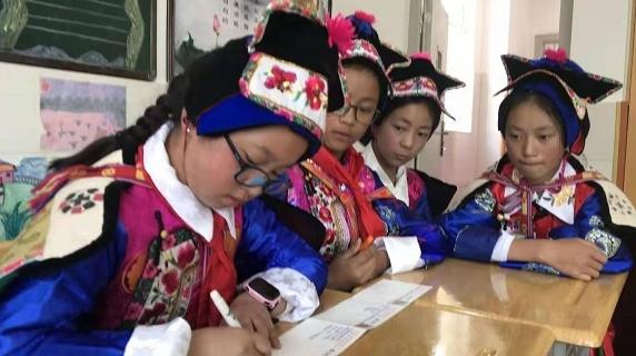 学习进步天天快乐!云南迪庆小伙伴收到来自上海朋友的新学期祝福
