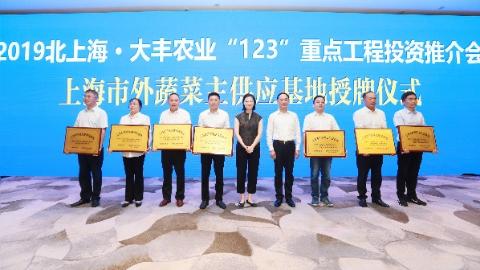 """大丰农副产业驶入""""接轨上海""""快车道,在沪举办农业""""123""""重点工程投资推介"""