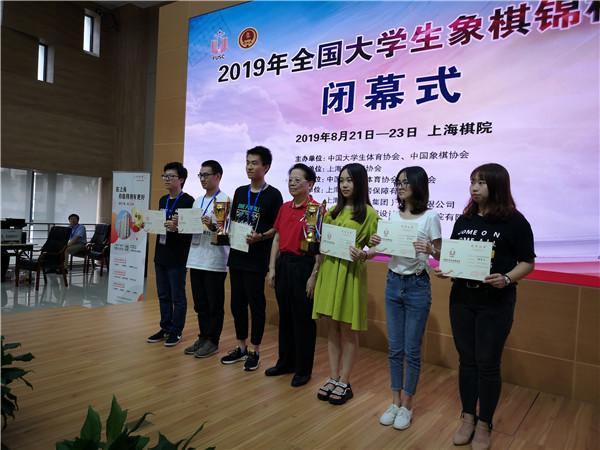 全国大学生象棋锦标赛在沪收盘
