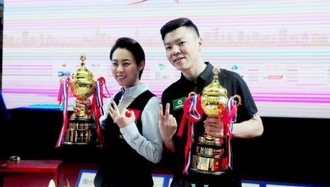 中国选手包揽世界9球中国公开赛男女冠军