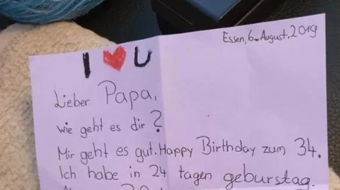 暖心!德国小女孩连续6年给亡父用气球寄信,今年收到了回信