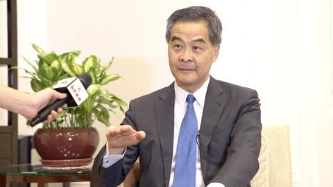 梁振英就当前香港热点问题接受新民晚报记者专访:全社会保持定力 风波一定会平息