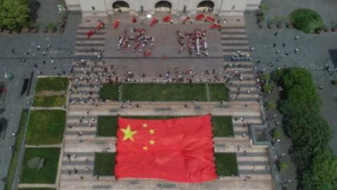 换一个视角俯瞰城市,大美上海!同一种方式歌颂祖国,爱我中华!