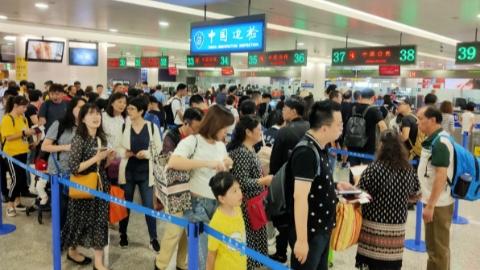 上海口岸今天出入境人数将突破12万人次 上海边检提前部署应对长假客流高峰