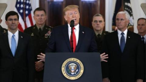 美伊紧张局势降温!回应伊朗导弹袭击 特朗普:准备拥抱和平