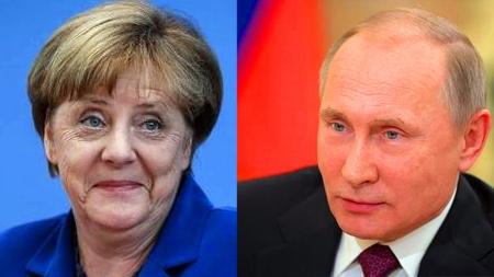 默克尔访俄与普京会谈 俄欧关系缓和