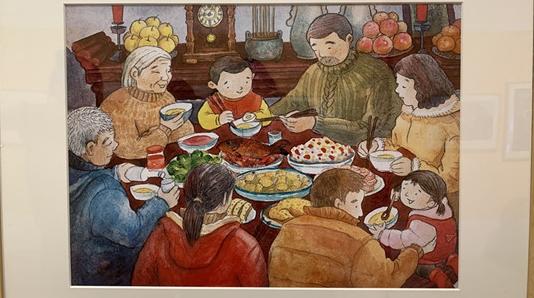 陈伯吹儿童文学奖原创插画展亮相 你还记得幼儿园的那些老师吗?