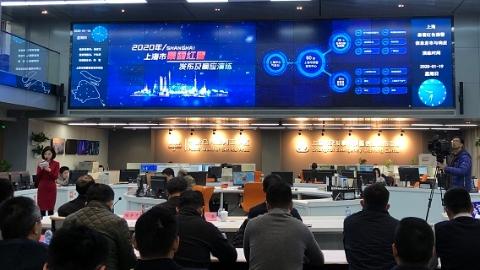 上海首次举行暴雪红警发布及响应演练 5分钟内预警信号发布