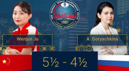 国象世界冠军对抗赛战第十局,居文君再胜离卫冕一步之遥
