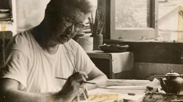 邻距离|晒晒我家老照片:父亲的水彩风景画记录着老上海风貌